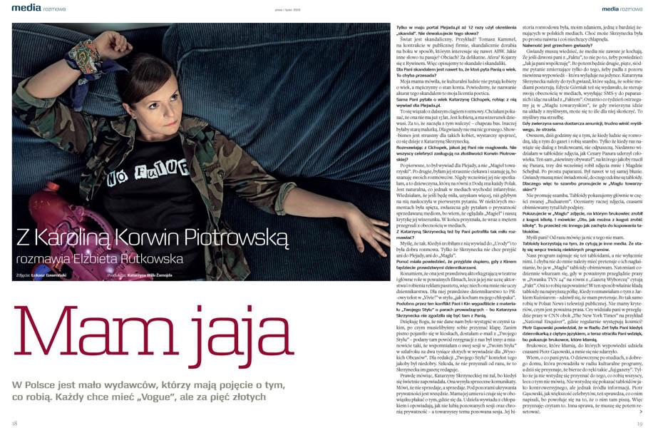 Korwin Piotrowska dla Press